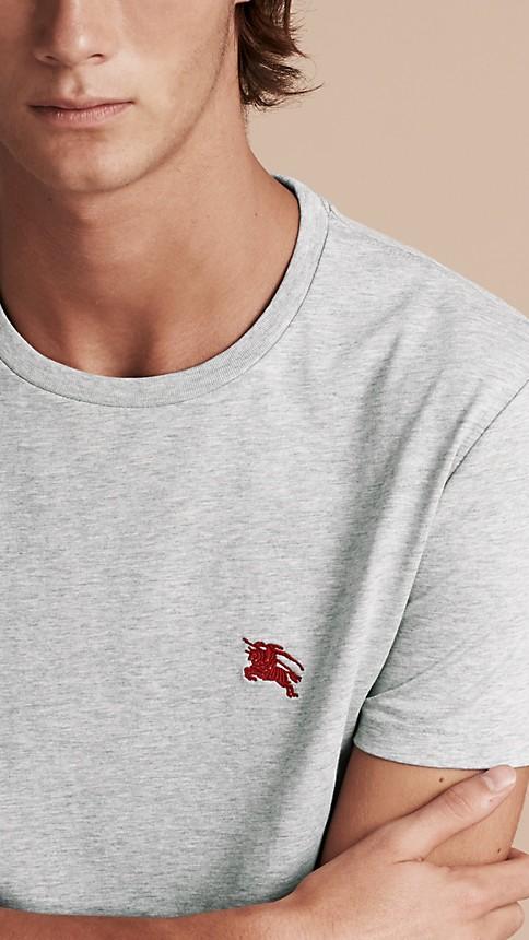Pale grey melange Liquid-soft Cotton T-Shirt Pale Grey Melange - Image 5