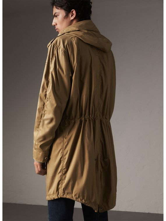 Cotton Blend Twill Parka - Men | Burberry - cell image 2