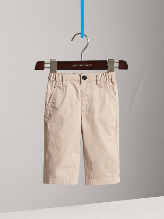 Cotton Twill Chinos in Grey Stone