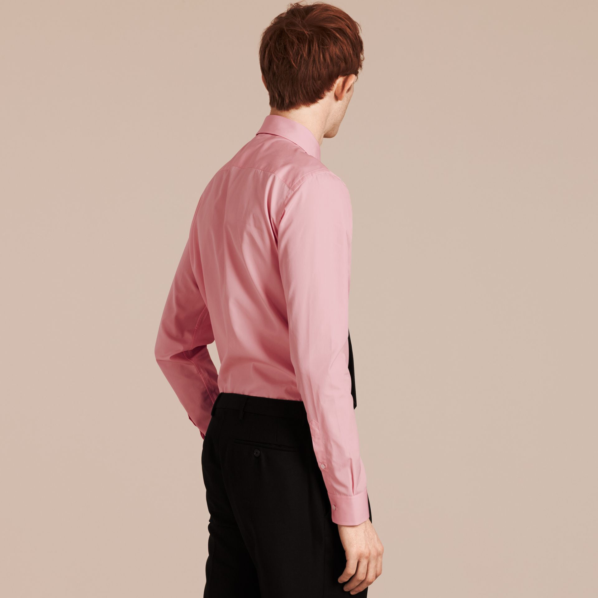 City pink Slim Fit Button-down Collar Cotton Poplin Shirt City Pink - gallery image 3
