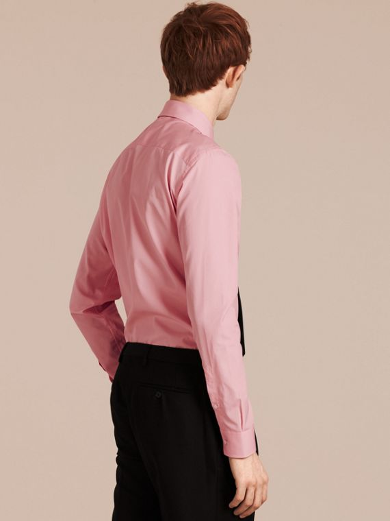 City pink Slim Fit Button-down Collar Cotton Poplin Shirt City Pink - cell image 2