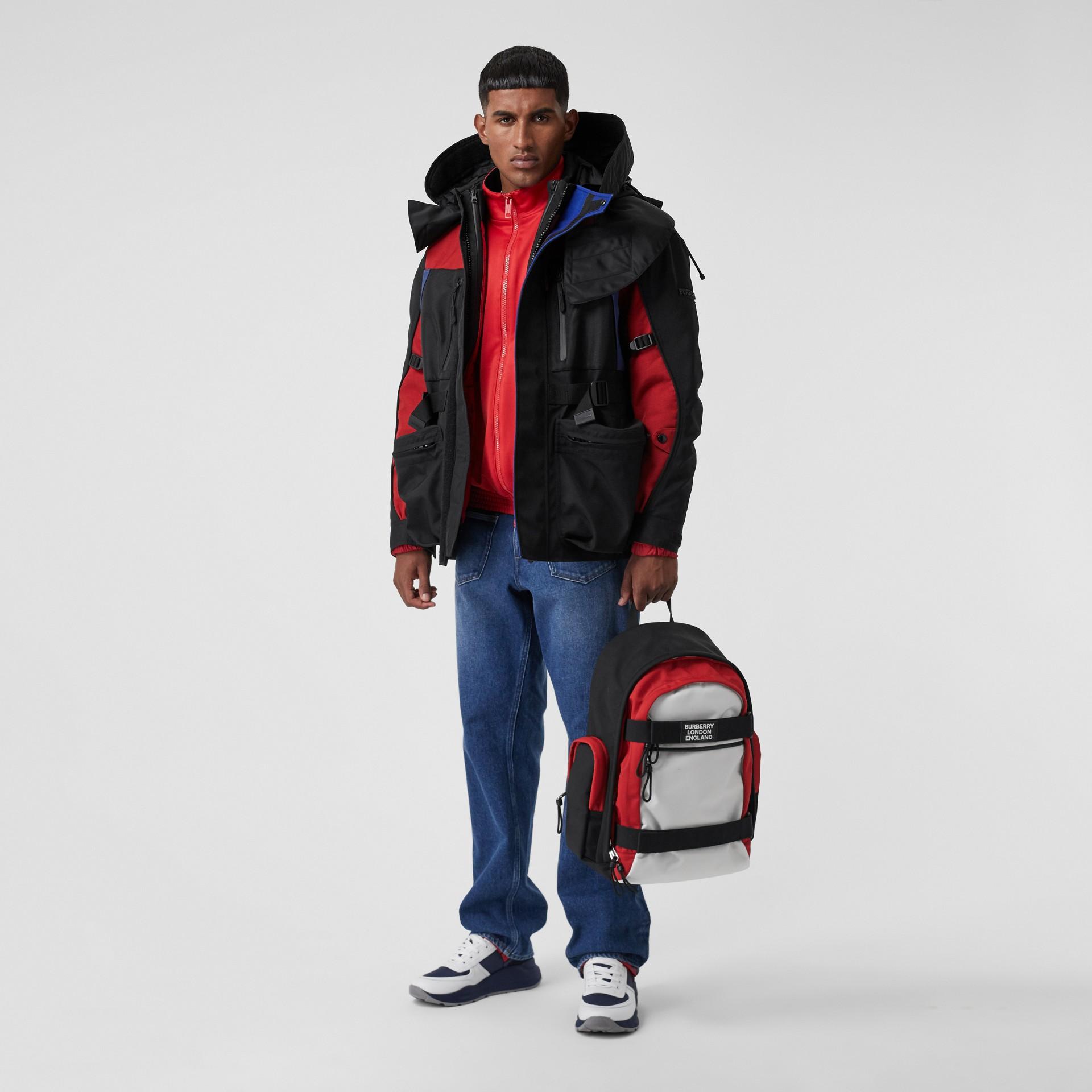 Veste de survêtement en jersey et néoprène avec logo appliqué (Rouge Vif) - Homme | Burberry - photo de la galerie 5
