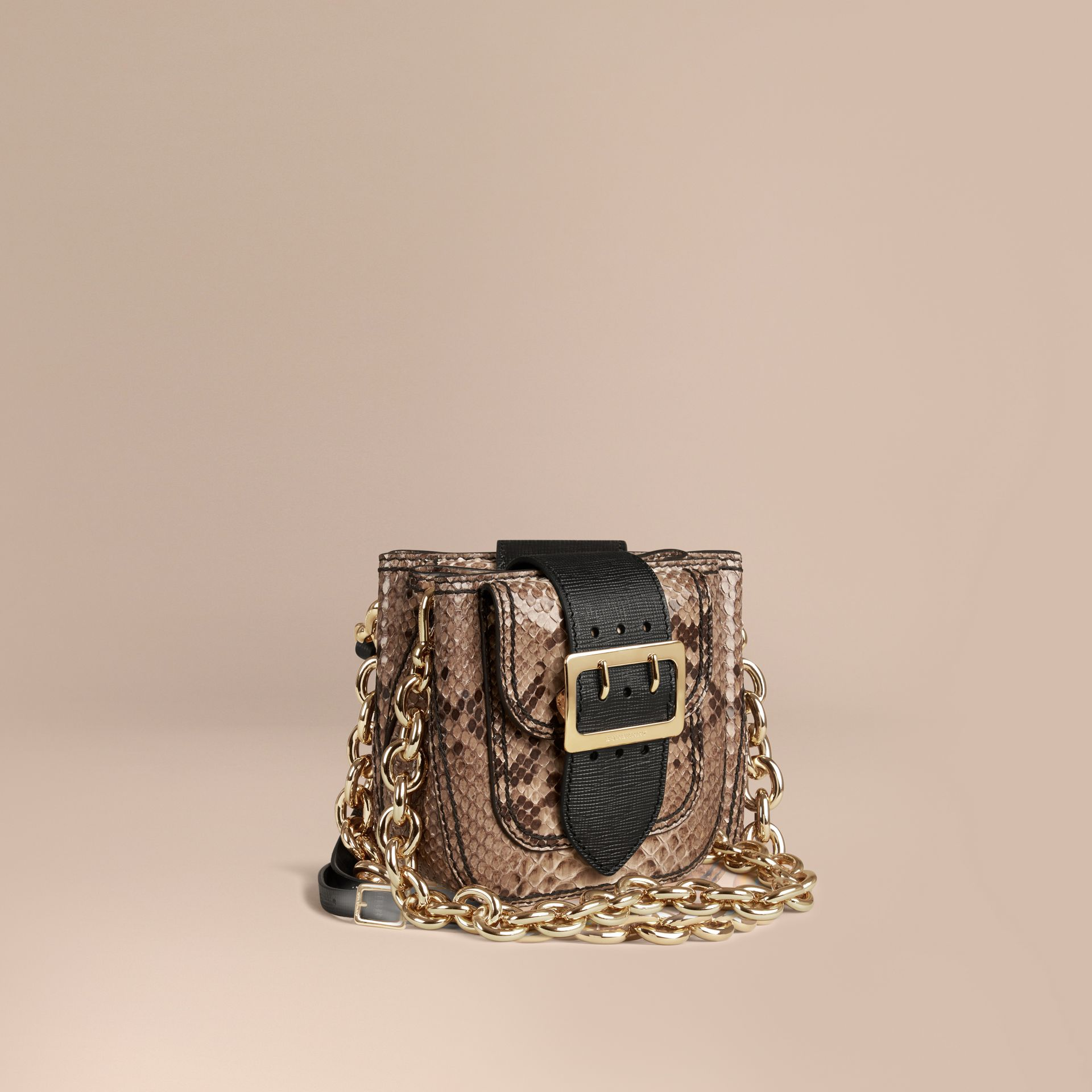 The Small Square Buckle Bag in Python Limited Edition - gallery image 1