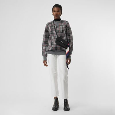 Check Cashmere Jacquard Sweater by Burberry