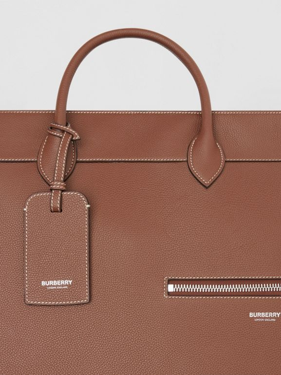 Grainy Leather Holdall in Tan - Men | Burberry Hong Kong S.A.R - cell image 1