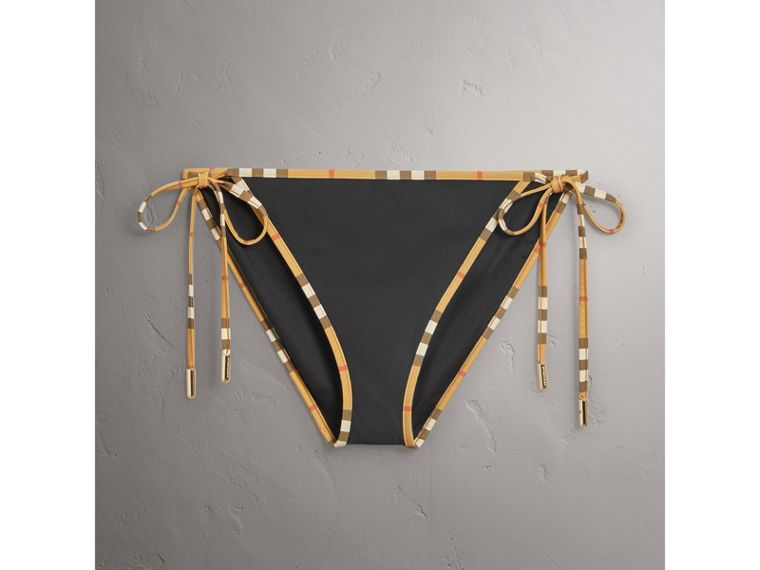Vintage Check Trim Triangle Bikini in Black - Women | Burberry United States - cell image 2