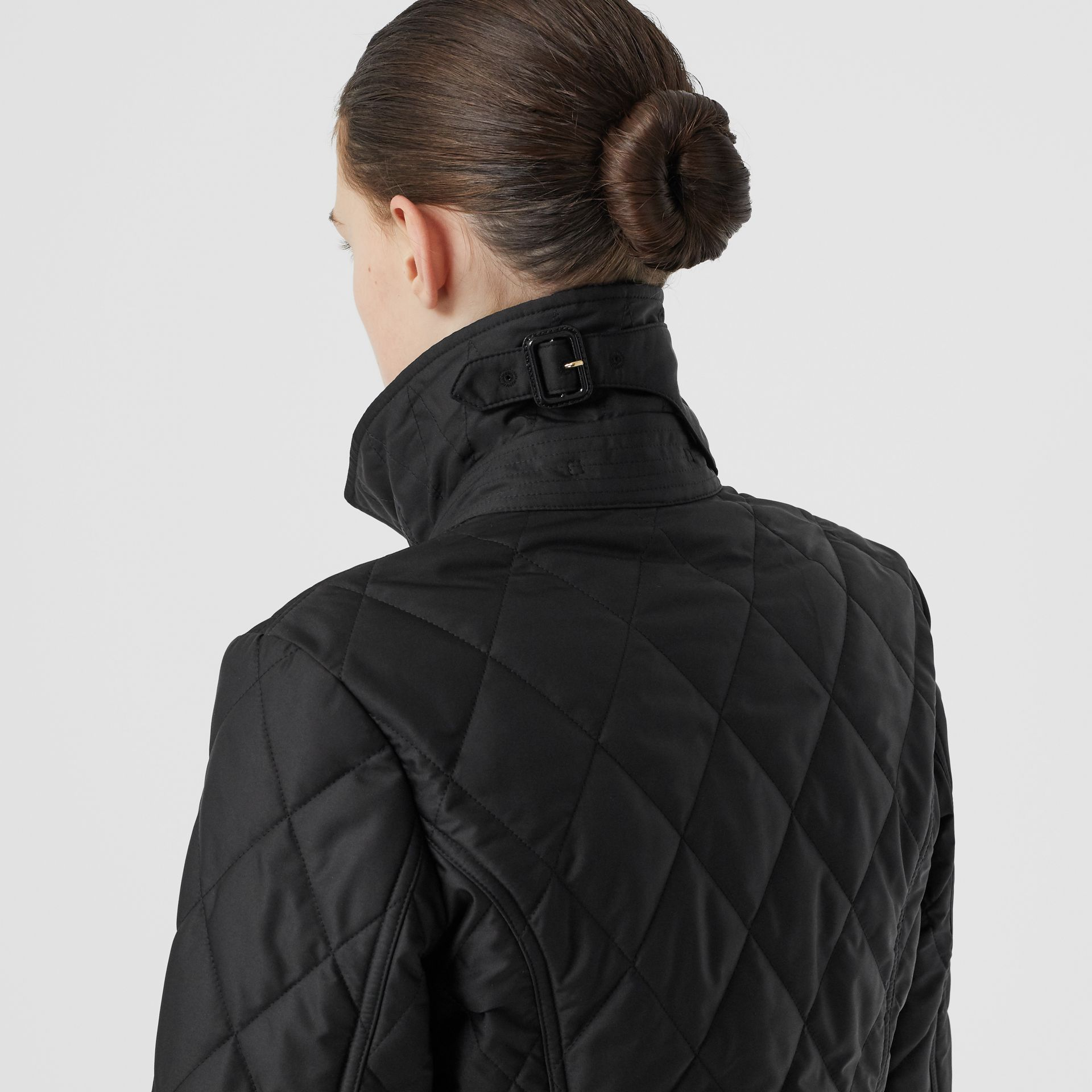 Diamond Quilted Thermoregulated Jacket in Black | Burberry Canada - gallery image 4