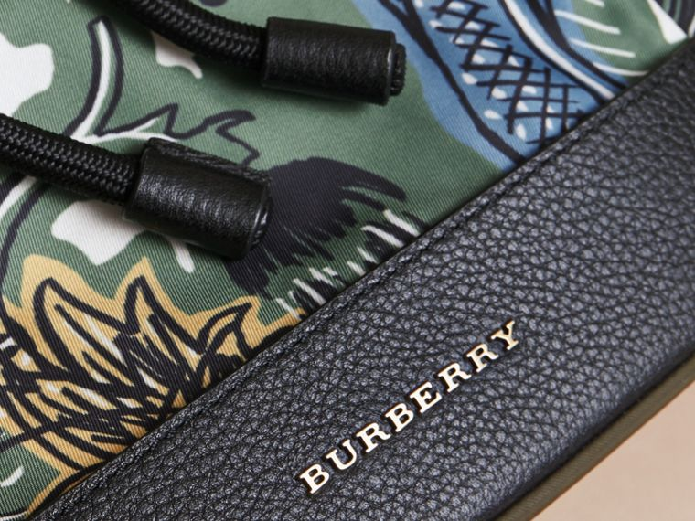 Leather Trim Lightweight Backpack | Burberry - cell image 1