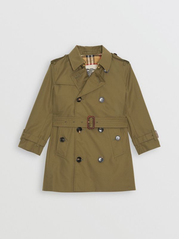Cotton Gabardine Trench Coat in Military Olive | Burberry United Kingdom - cell image 2