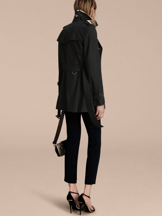 Black The Kensington – Short Heritage Trench Coat Black - cell image 2