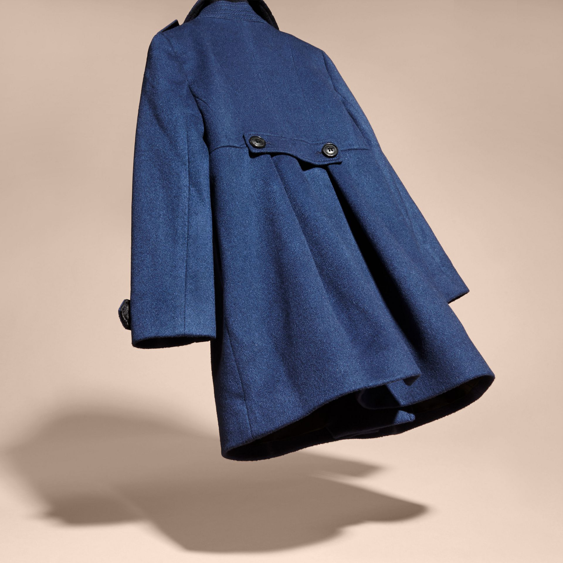 Cashmere Military Coat in Bright Navy - gallery image 4