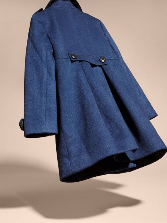 Cashmere Military Coat in Bright Navy - cell image 3