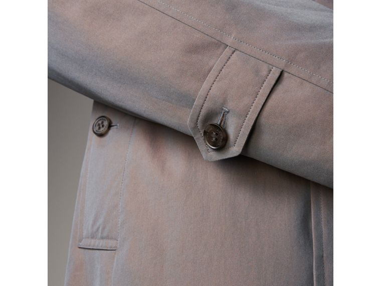The Camden – Long Car Coat in Lilac Grey - Men | Burberry - cell image 4