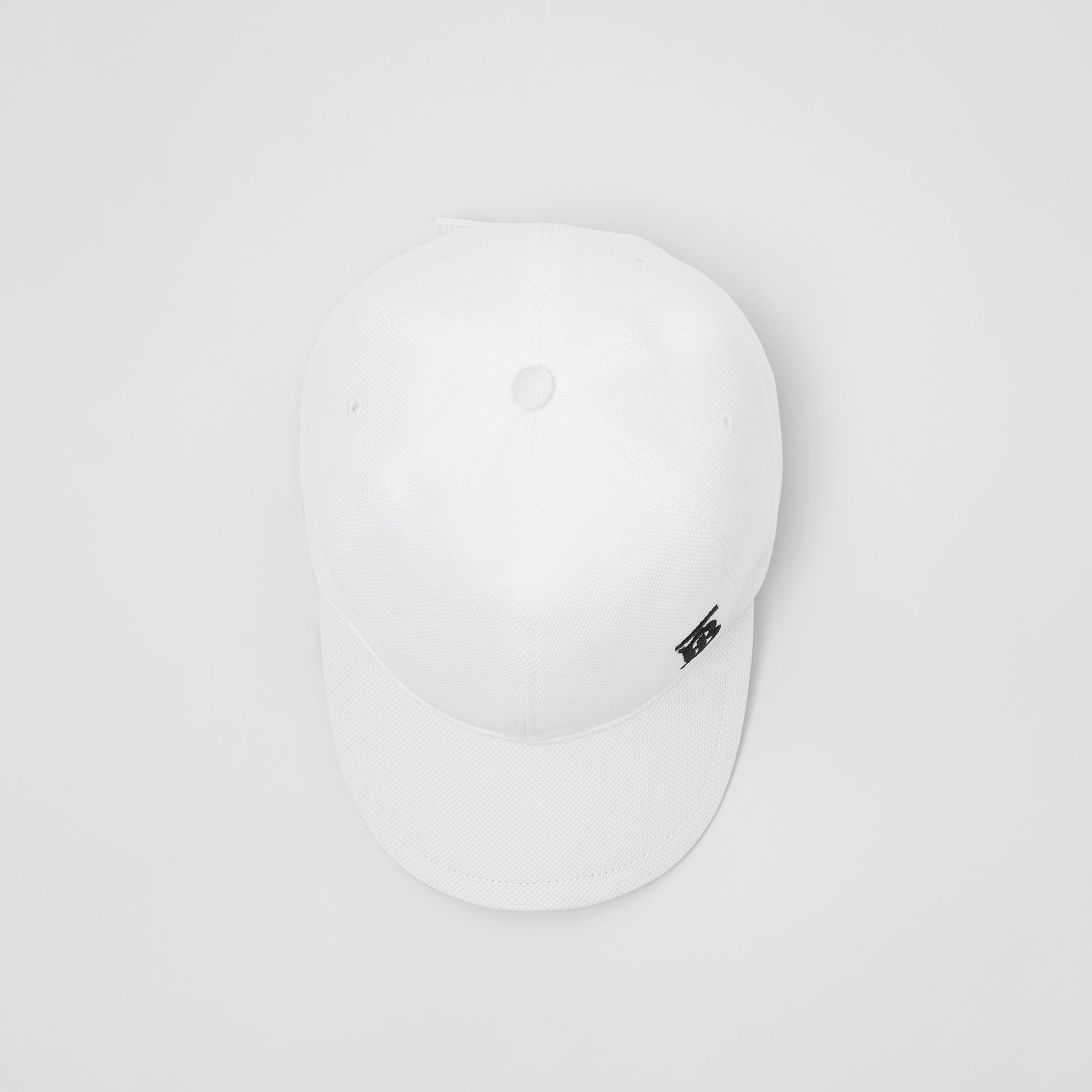 Monogram Motif Baseball Cap in White | Burberry United States - gallery image 0