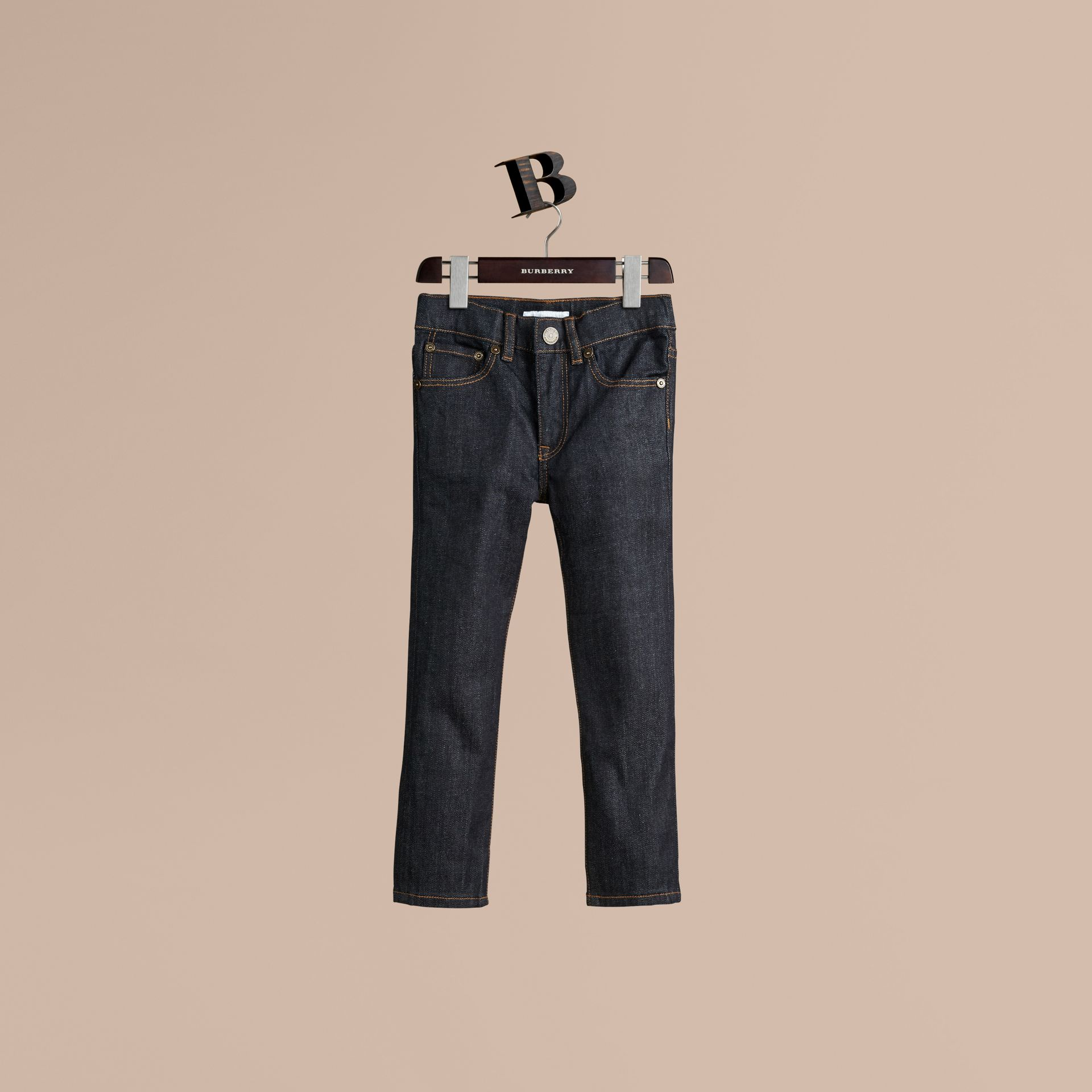 Relaxed Fit Indigo Jeans in Dark - Boy | Burberry - gallery image 1