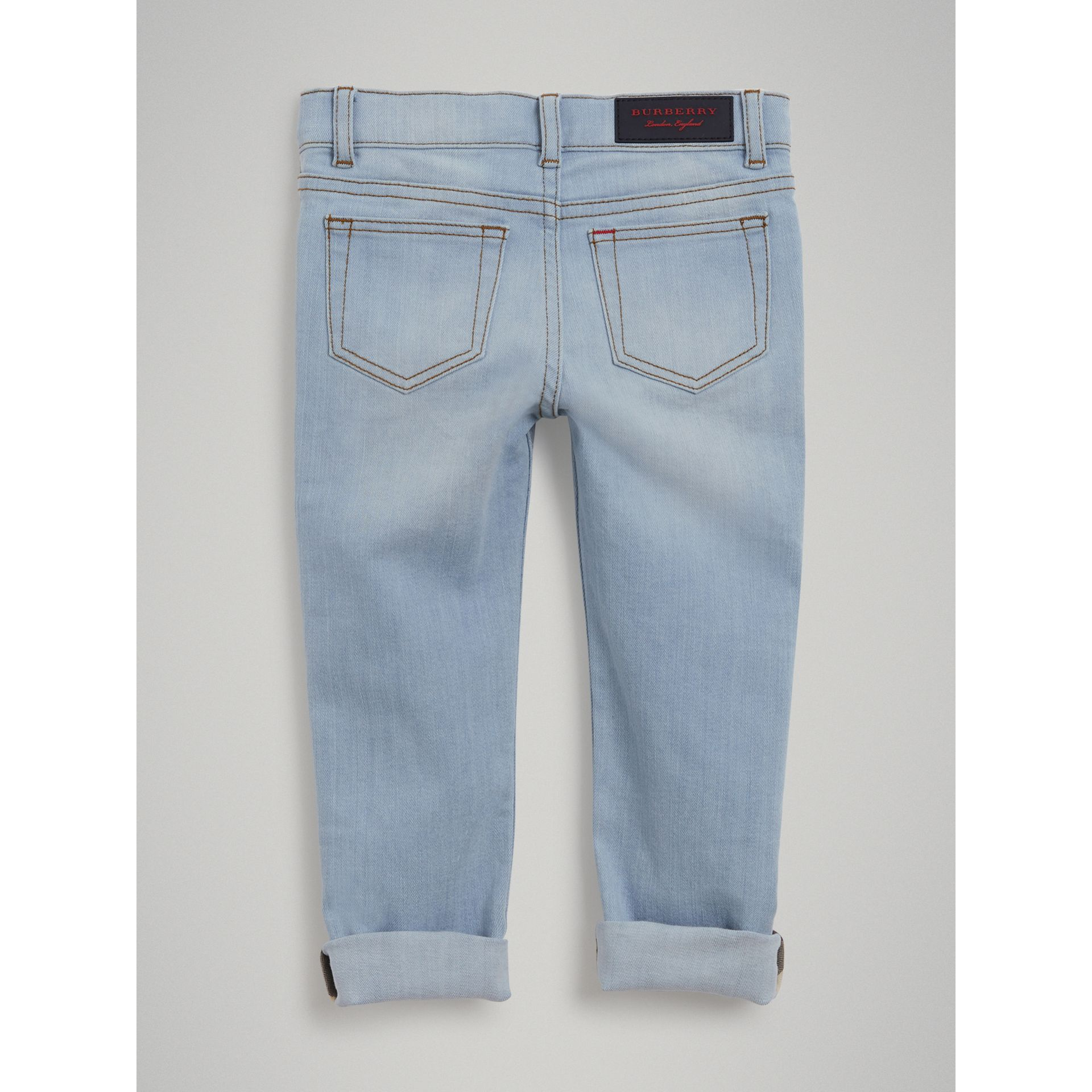 Relaxed Fit Stretch Jeans in Light Blue - Boy | Burberry United States - gallery image 3