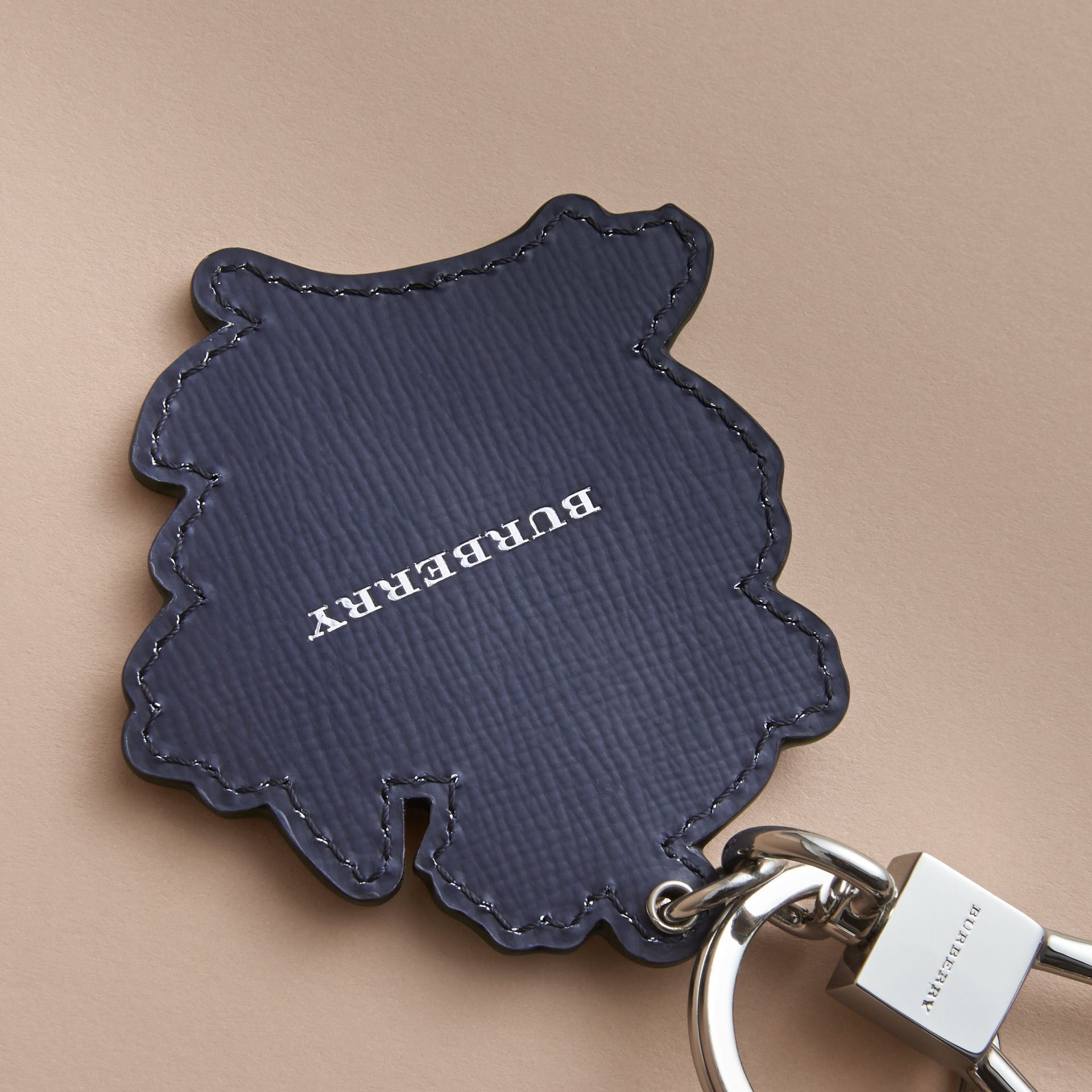 Beasts Leather Key Ring in Olive Green - gallery image 4