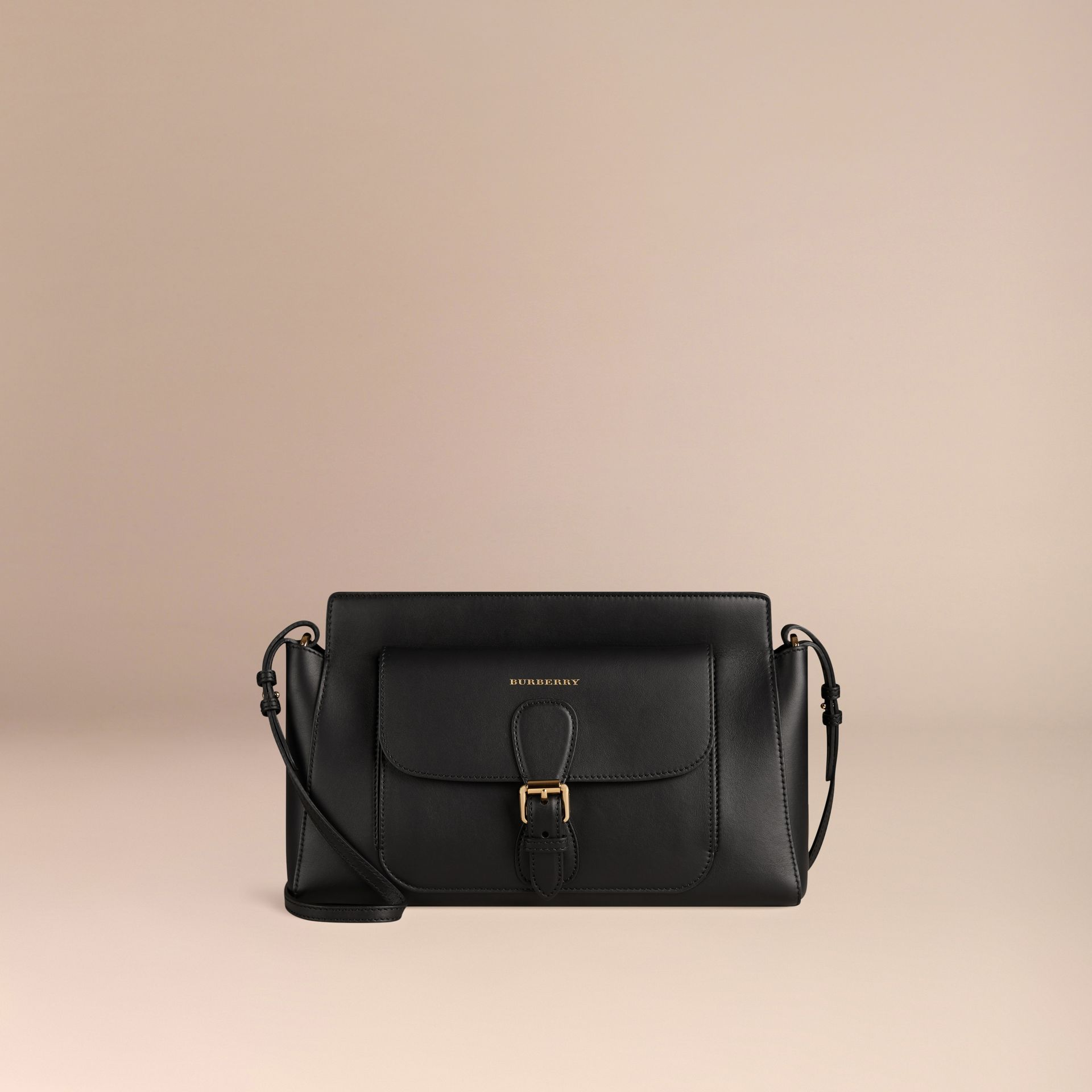 Black The Saddle Clutch in Bonded Leather - gallery image 7