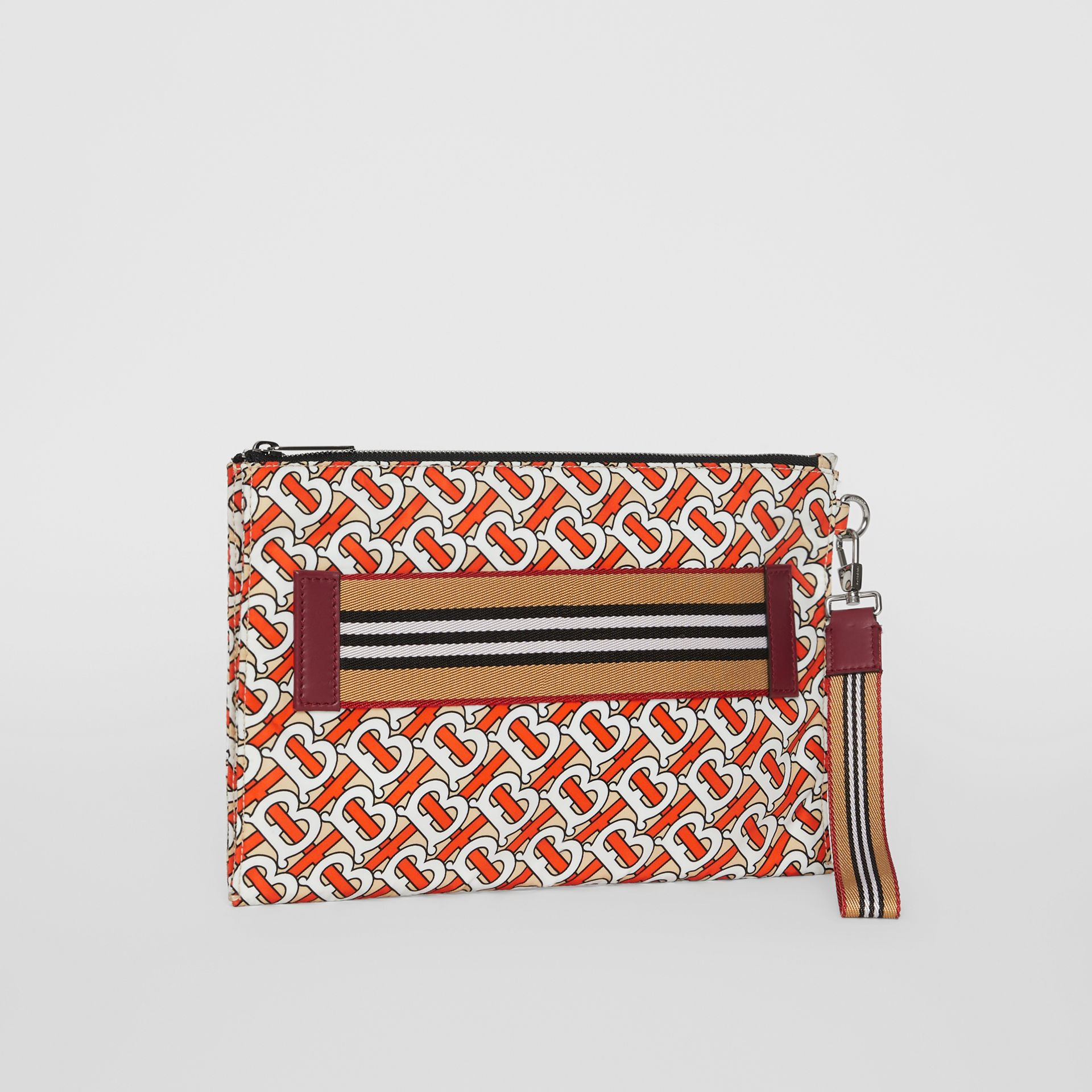 Monogram Print Zip Pouch in Vermilion | Burberry Singapore - gallery image 4