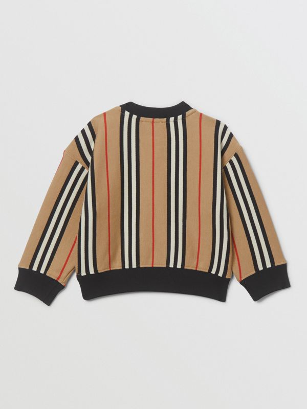 Icon Stripe Cotton Sweatshirt in Archive Beige - Children | Burberry United Kingdom - cell image 3