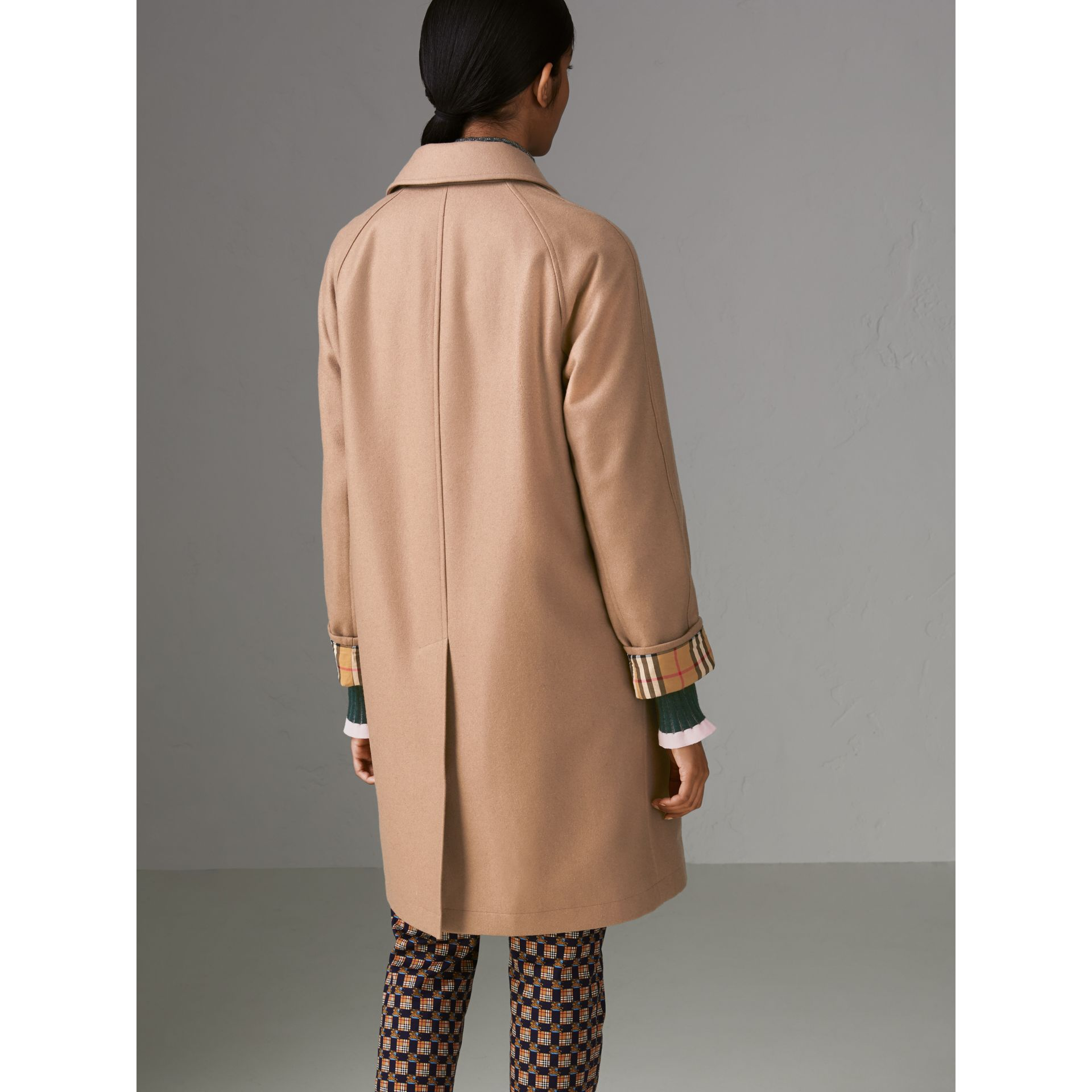 Cashmere Car Coat in Camel - Women | Burberry - gallery image 2