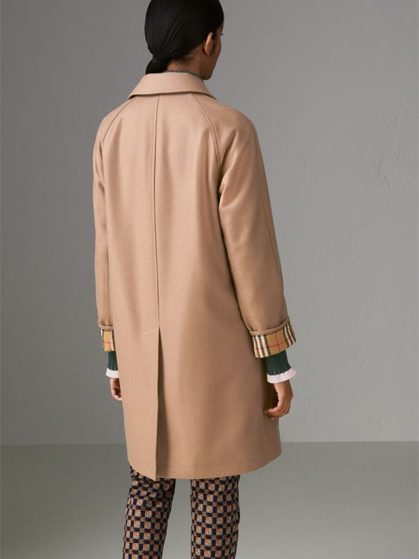 Cashmere Car Coat in Camel - Women | Burberry - cell image 2