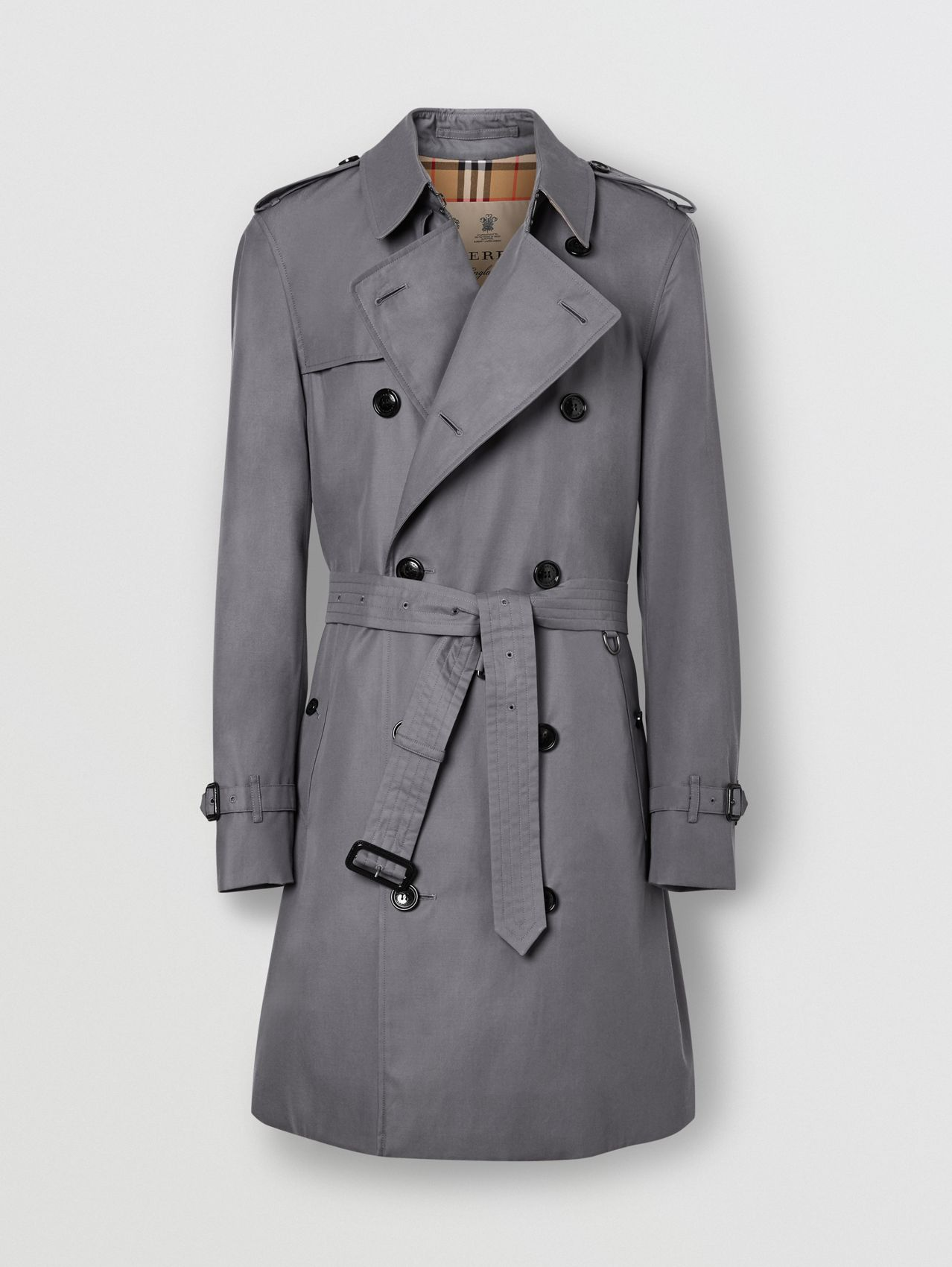 The Mid-length Chelsea Heritage Trench Coat in Grey