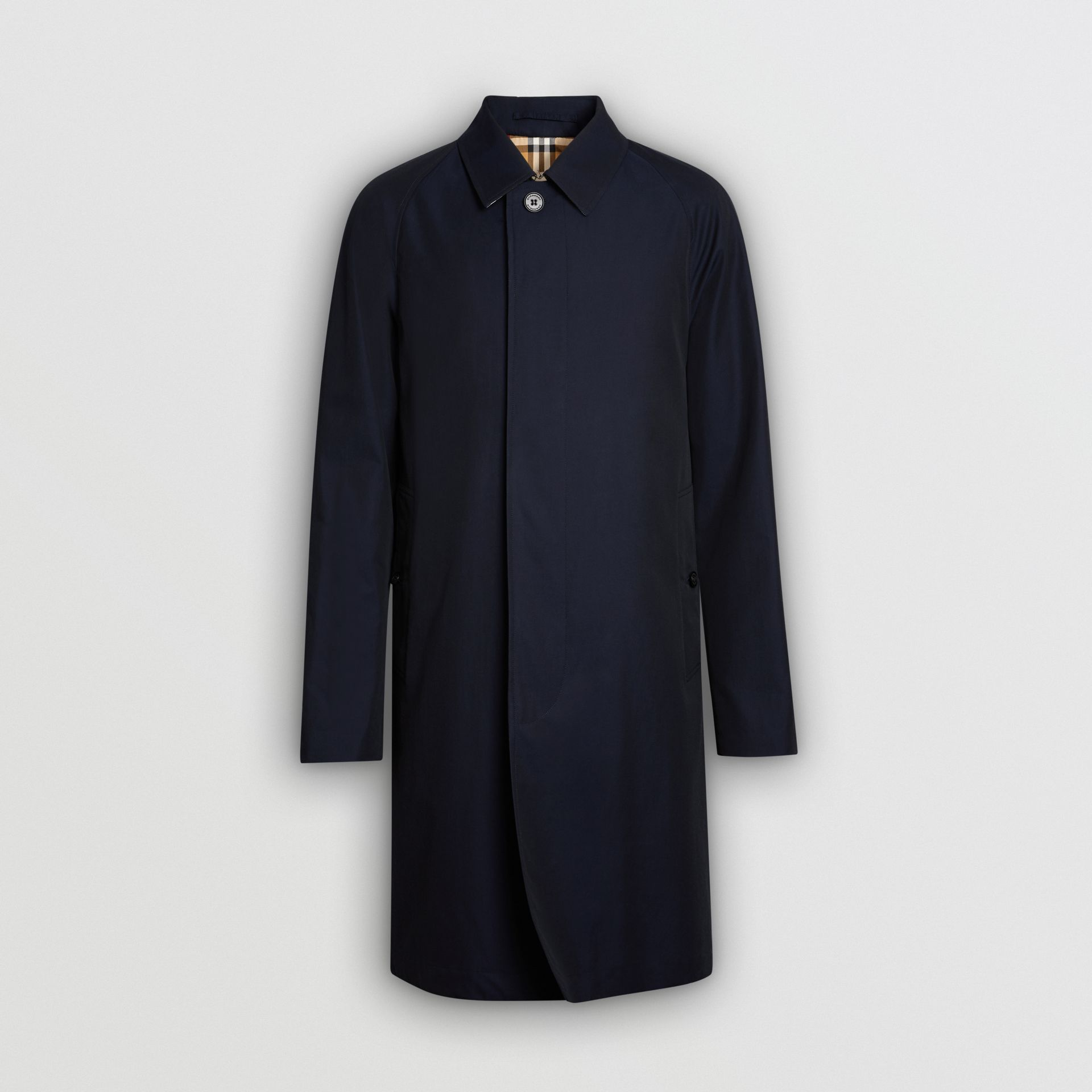 The Camden Car Coat in Blue Carbon - Men | Burberry United Kingdom - gallery image 3