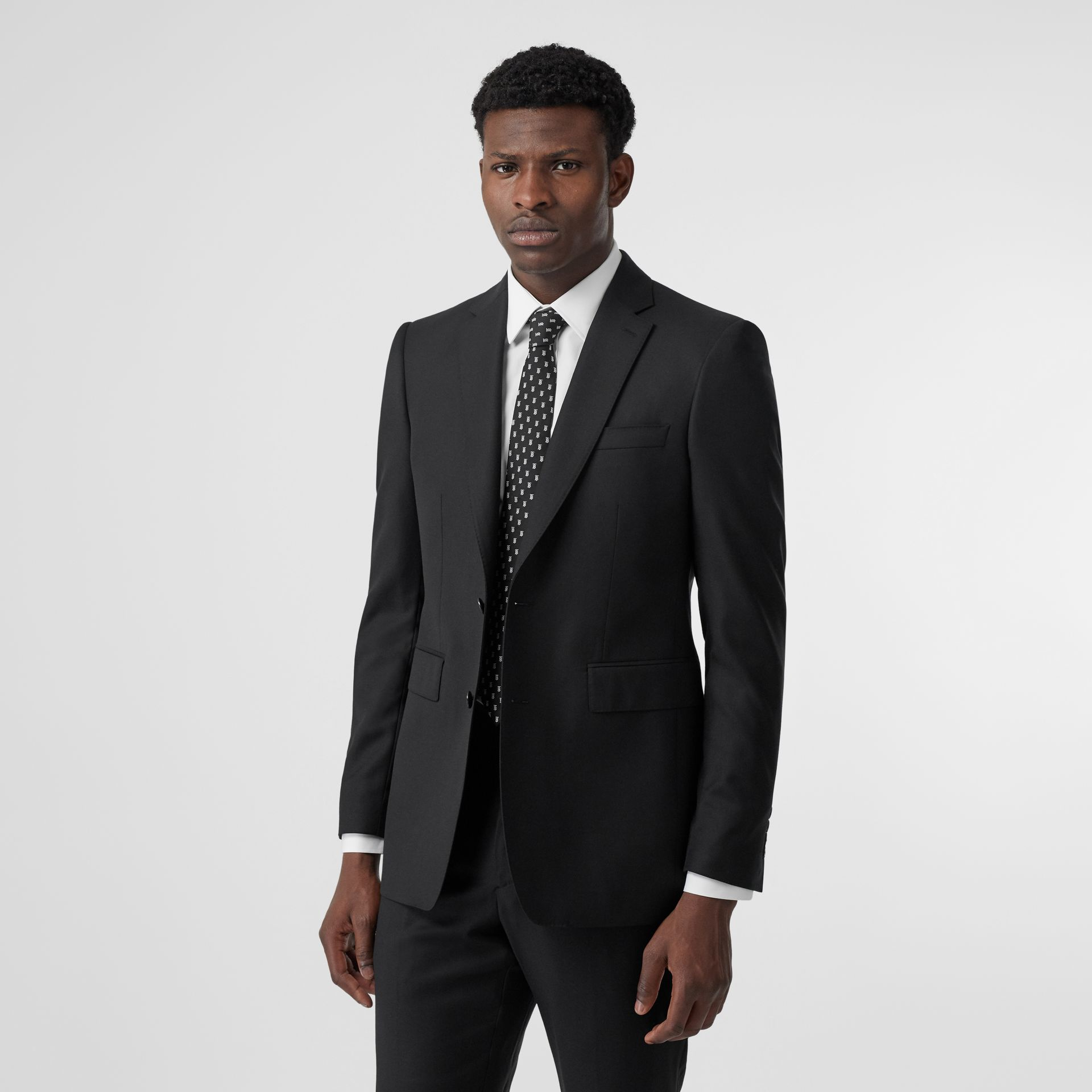 Classic Fit Wool Suit in Black - Men | Burberry United Kingdom - gallery image 7