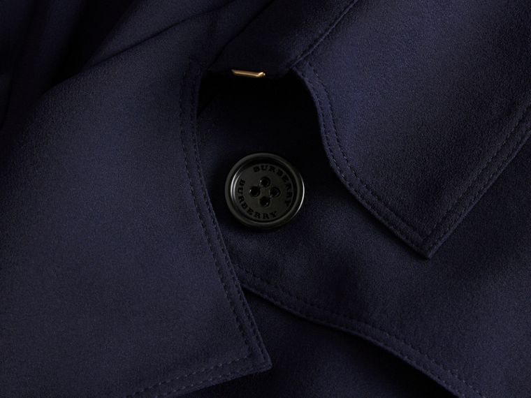 Silk Trench Dress in Navy - cell image 1