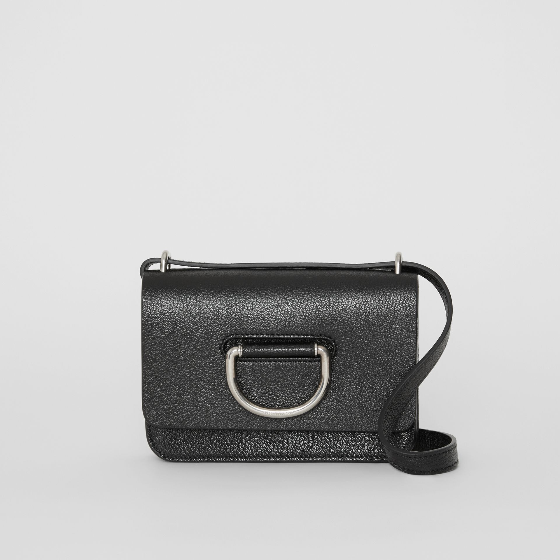 The Mini Leather D-ring Bag in Black - Women | Burberry Australia - gallery image 0