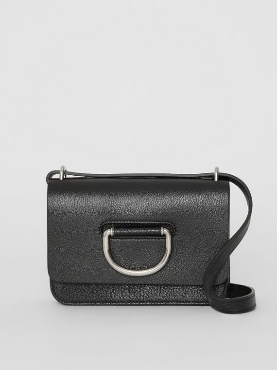 Mini sac The D-ring en cuir (Noir)