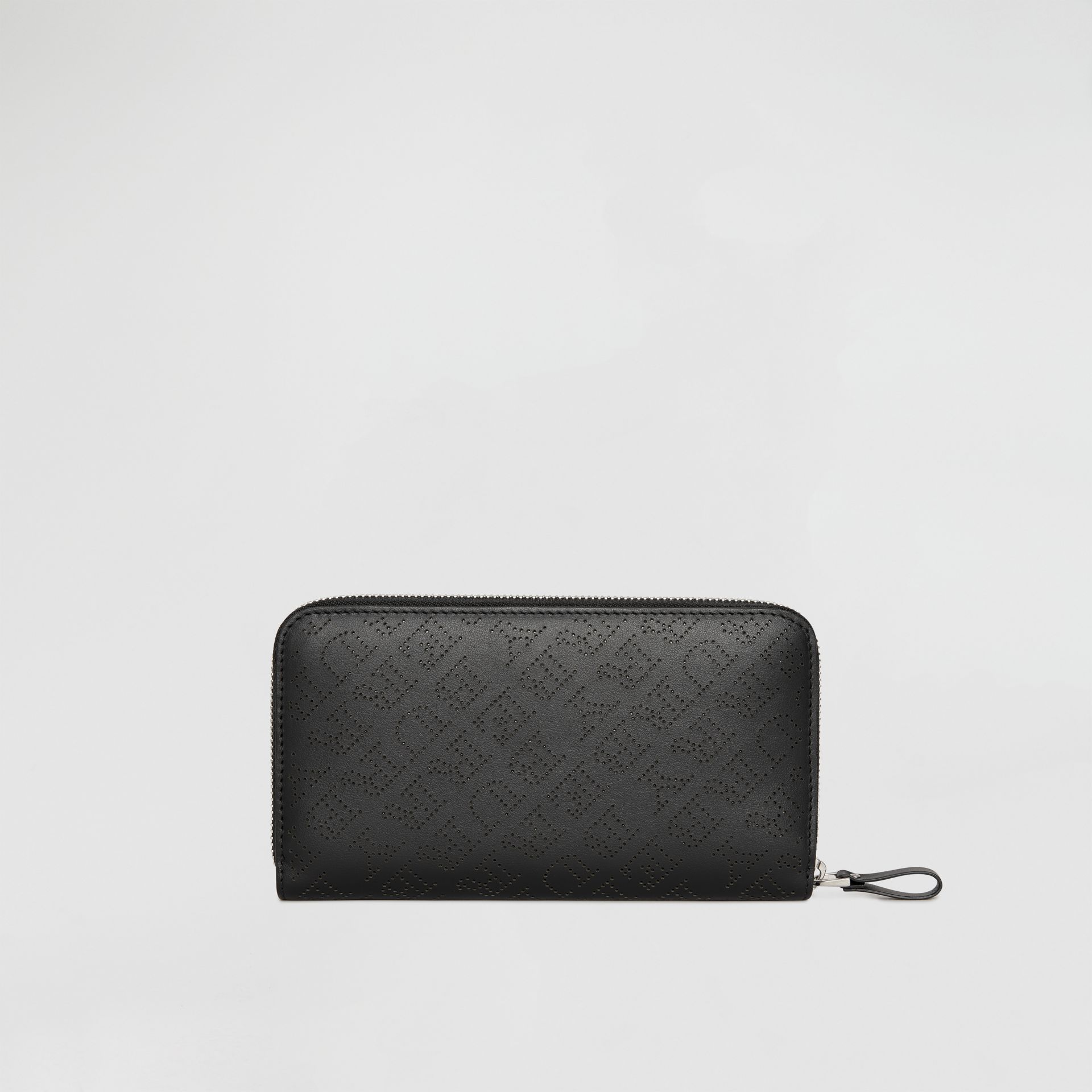 Perforated Leather Ziparound Wallet in Black - Women | Burberry - gallery image 4