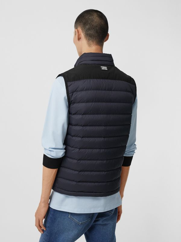 Logo Graphic Puffer Gilet in Navy - Men | Burberry - cell image 2