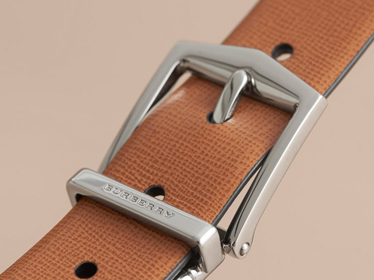 Reversible London Leather Belt in Tan/black - cell image 1