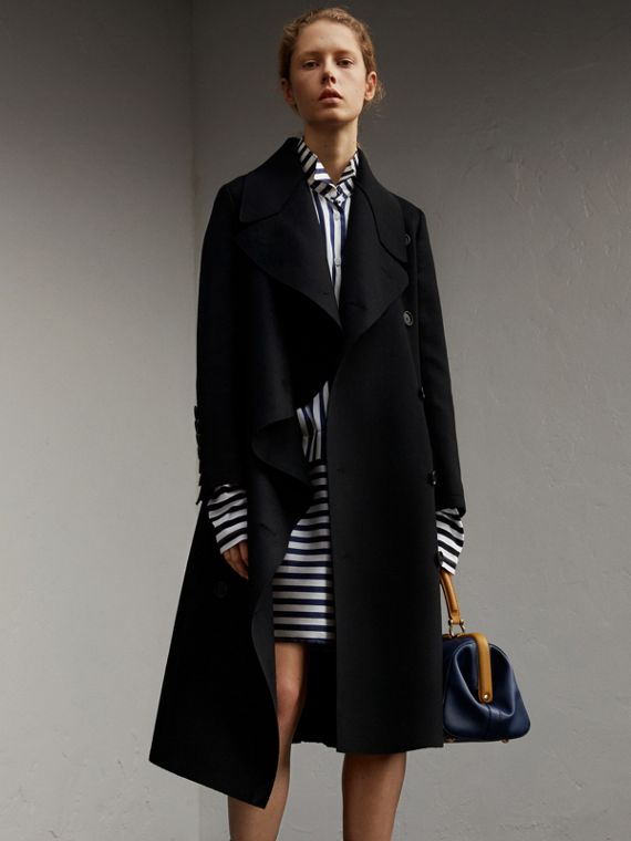 Double-faced Wool Asymmetric Coat - Women | Burberry