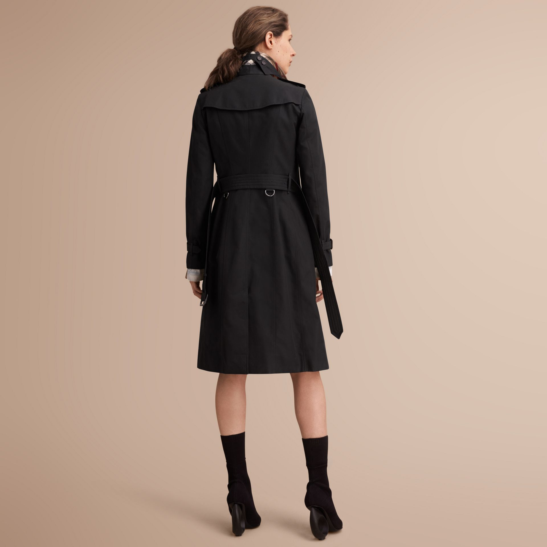 The Sandringham – Extra-long Heritage Trench Coat Black - gallery image 3