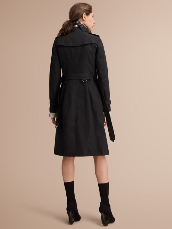 The Sandringham – Extra-long Heritage Trench Coat Black - cell image 2