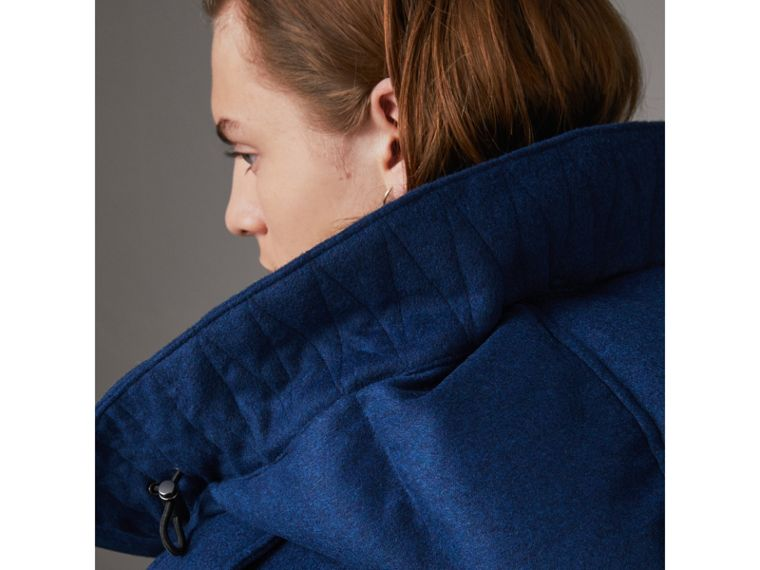 Down-filled Cashmere Hooded Parka in Teal Blue Melange - Men | Burberry United Kingdom - cell image 4