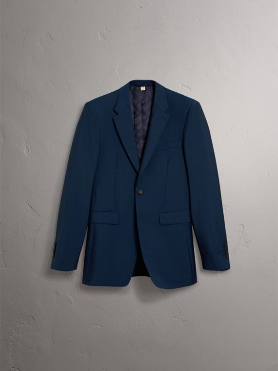 Modern Fit Wool Mohair Suit in Royal Navy - Men | Burberry - cell image 3
