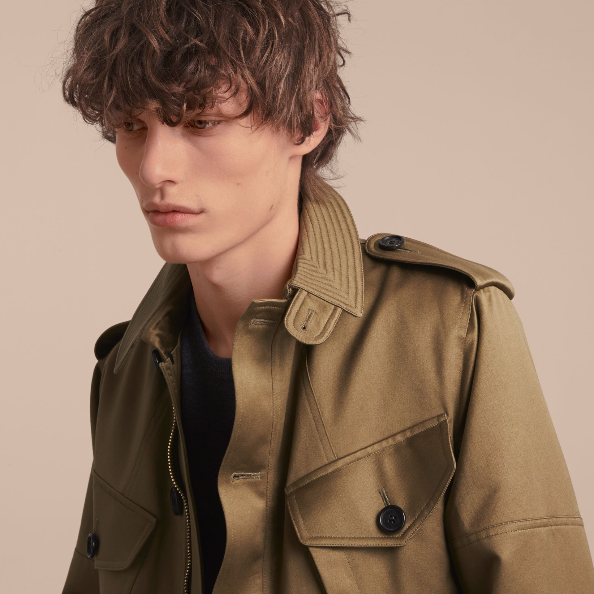 Cotton Field Jacket with Detachable Warmer - gallery image 5