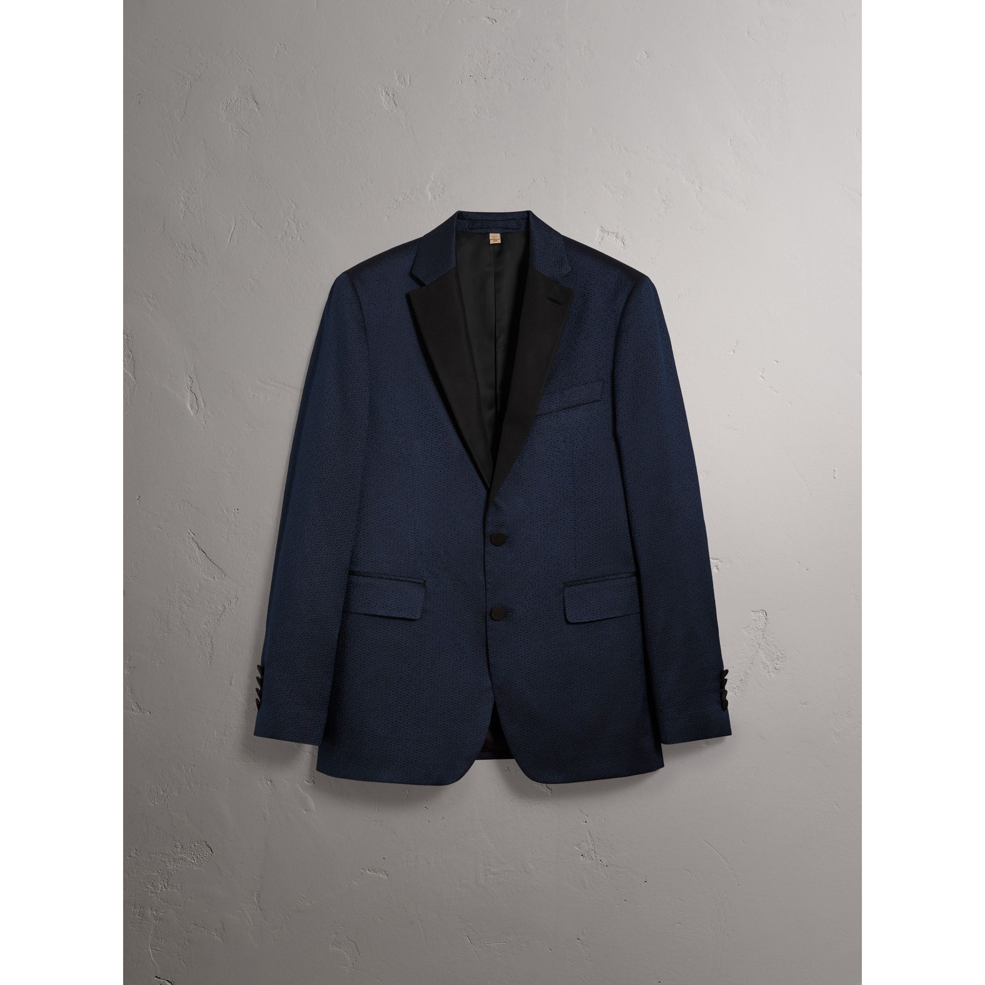 Soho Fit Jacquard Evening Jacket in Navy - Men | Burberry United Kingdom - gallery image 3