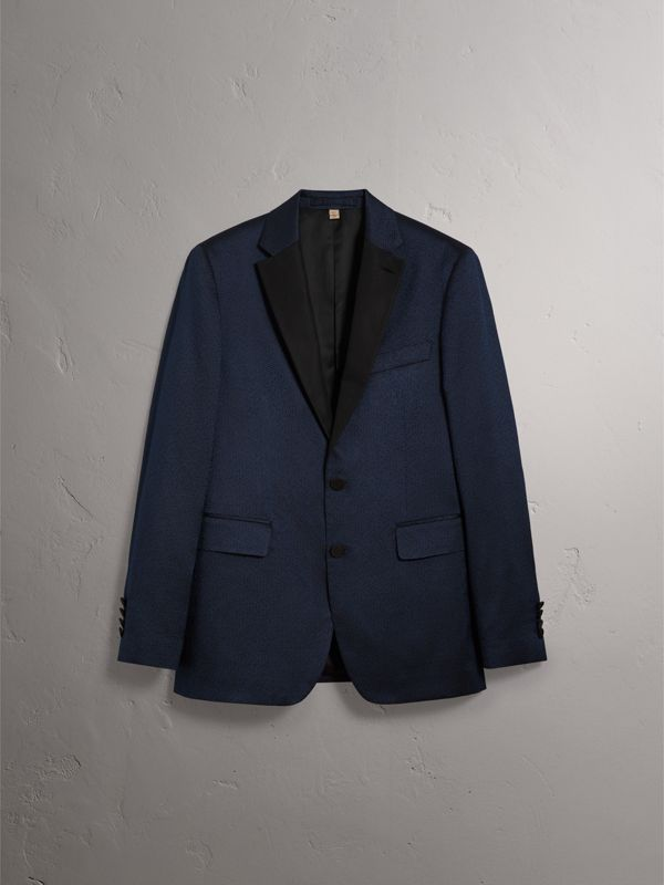 Soho Fit Jacquard Evening Jacket in Navy - Men | Burberry - cell image 3