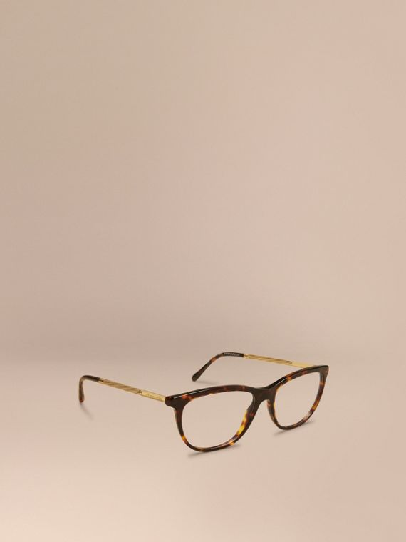 Gabardine Collection Cat-Eye Optical Frames Tortoise Shell