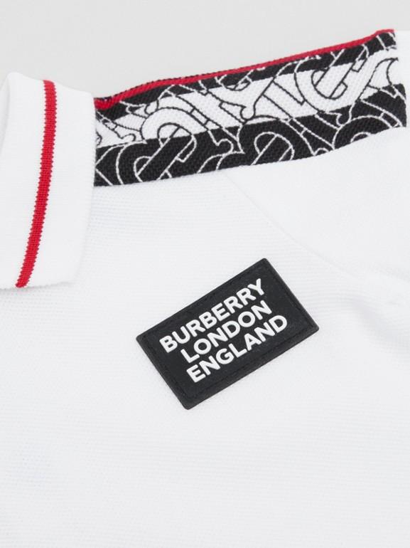 Strampelanzug mit Monogrammmuster im Streifendesign (Weiß) - Kinder | Burberry - cell image 1