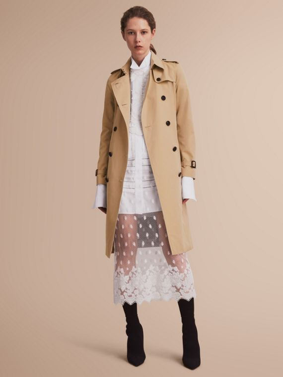 The Kensington – Extra-long Heritage Trench Coat Honey