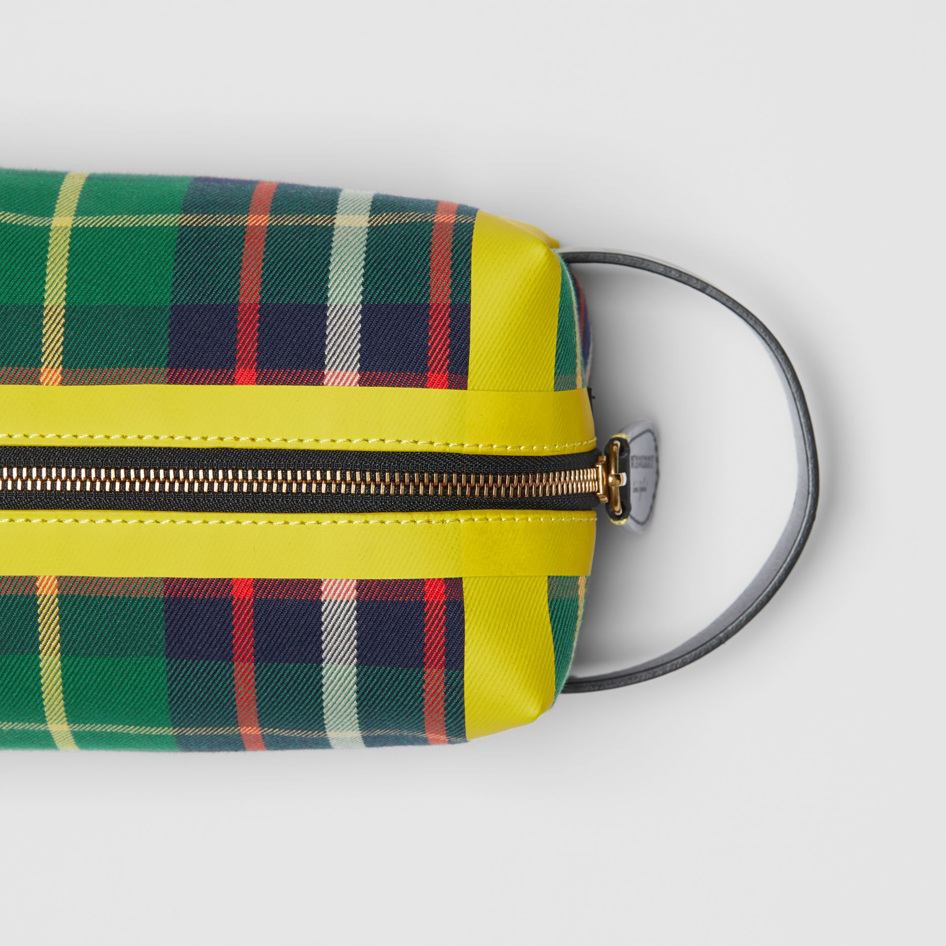 Tartan Cotton Pouch in Forest Green | Burberry - gallery image 1