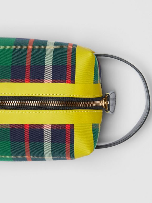 Tartan Cotton Pouch in Forest Green | Burberry - cell image 1