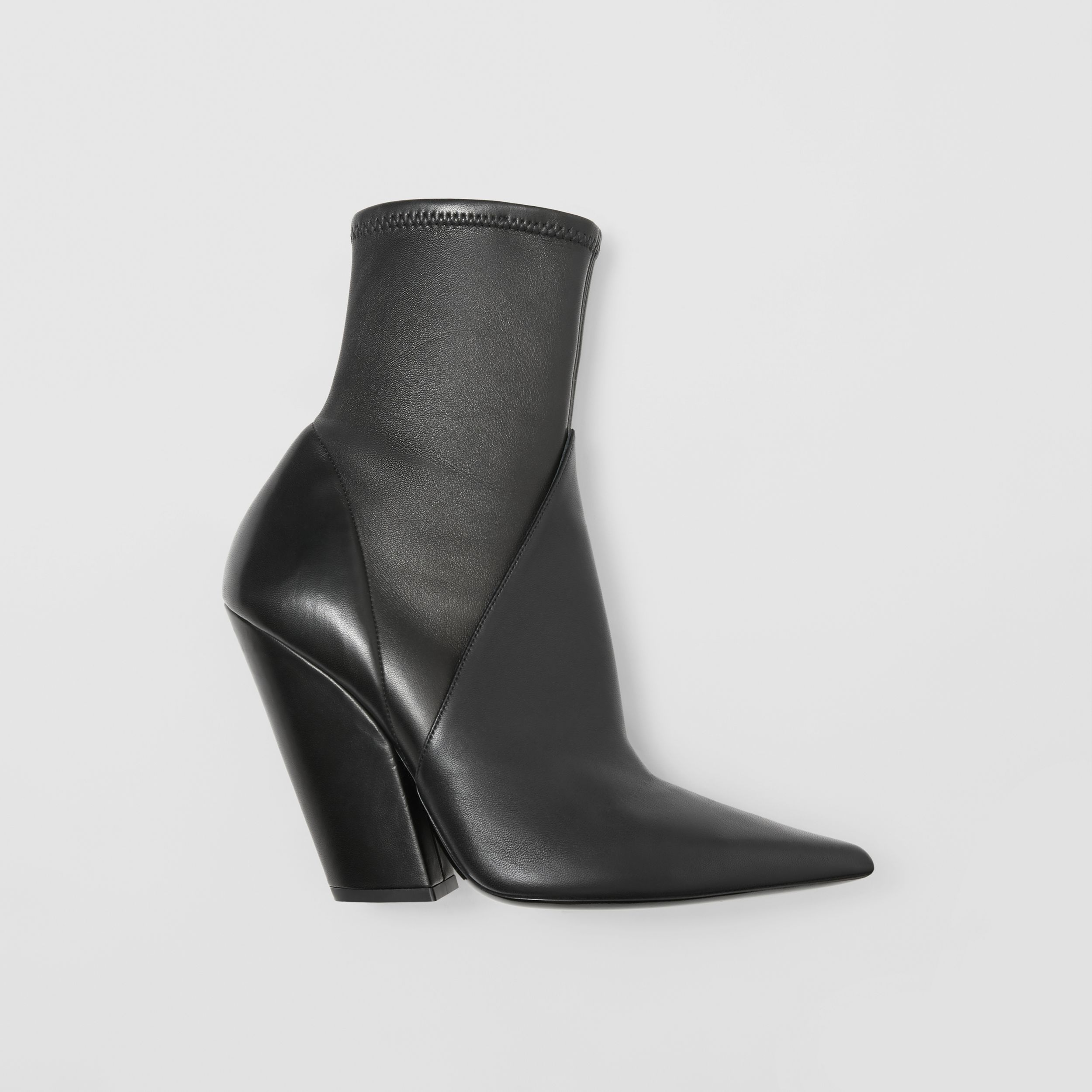 Panelled Lambskin Ankle Boots in Black - Women | Burberry - 1