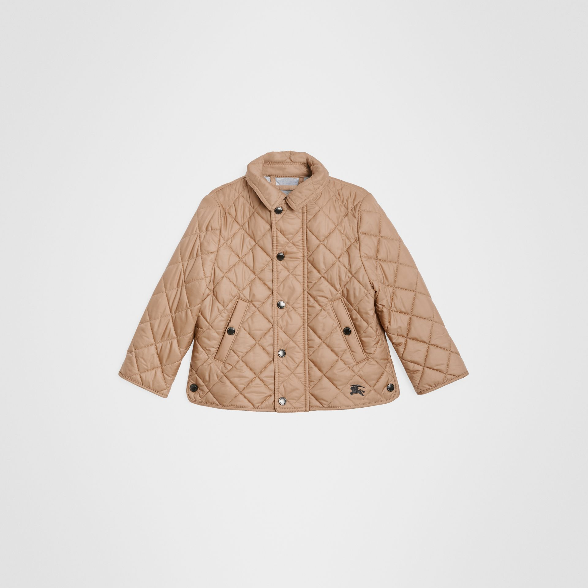 Lightweight Diamond Quilted Jacket in Camel - Children | Burberry Canada - gallery image 0